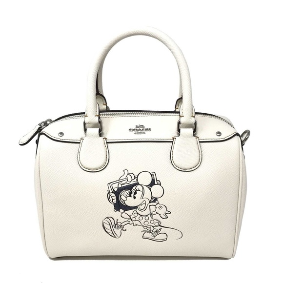 75cbce6a091 Coach Bags   Disney Minnie Mouse Mini Bennett Bag Leather   Poshmark